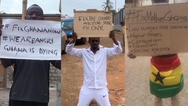 Ghanaian youth march for development in FixTheCountry demo today