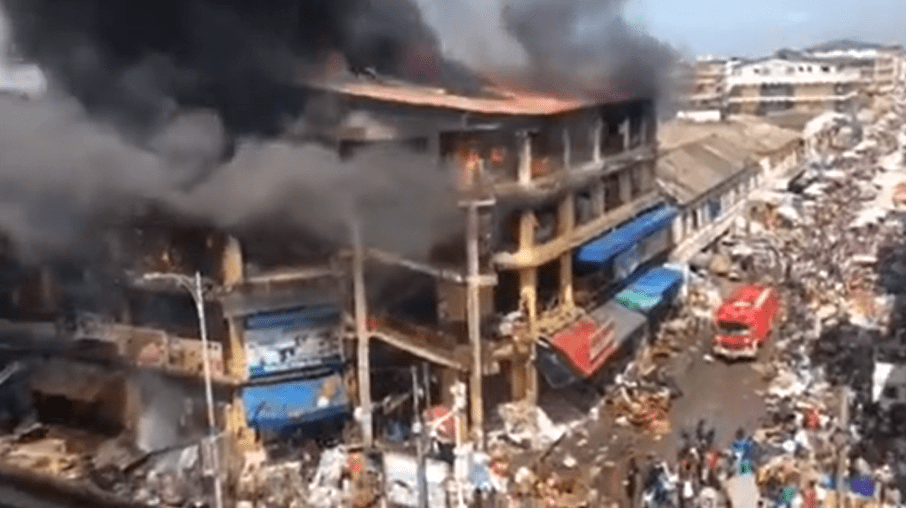 Military set to demolish the fire-ravaged building at Makola as traders still feel the harrowing incident