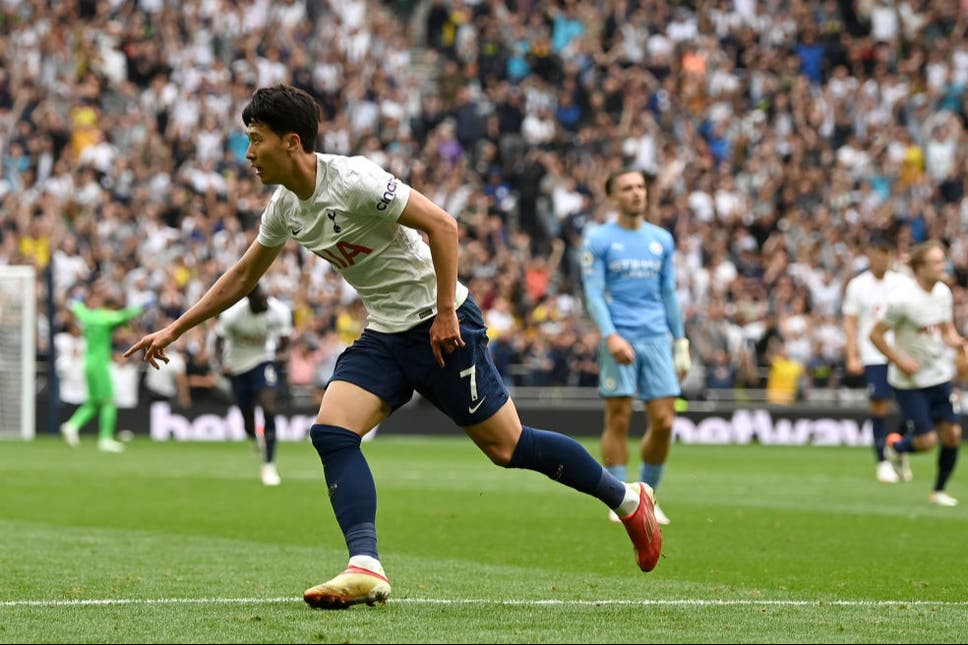 Son's Spurs stuns Grealish City in Premier League opener