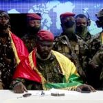 Guinean soldiers who staged coup announcing their takeover on a national television