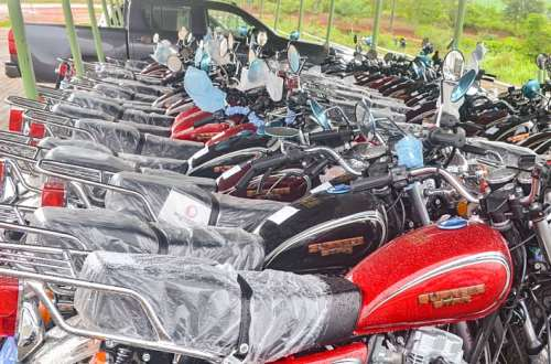 Government presents 1,248 motorcycles to Eastern Region