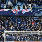 Supporters in a stadium