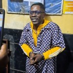Shatta Wale in handcuff at the Police station