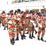 new recruits of the GNFS jubilating after their passing out