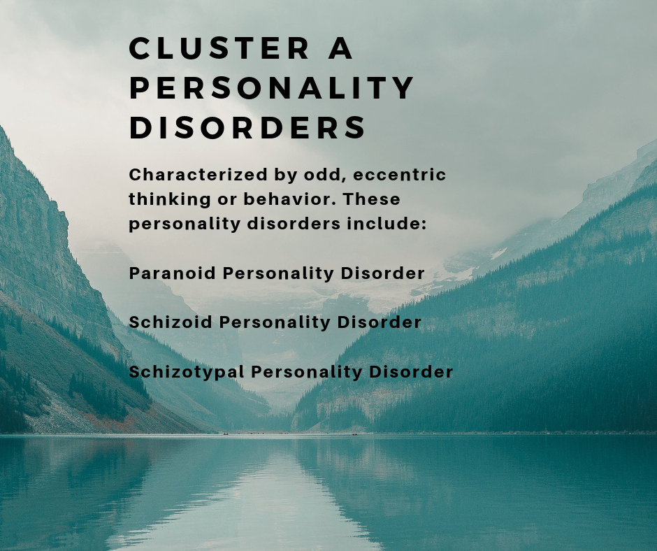 list of personality disorders