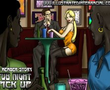 Pub Night Pick Up – illustrated Interracial