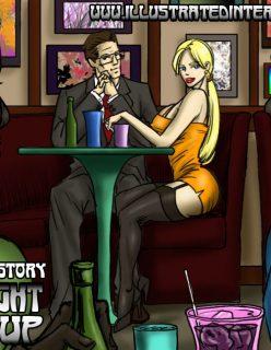 Pub Night Pick Up – illustrated Interracial