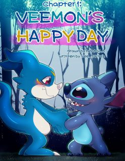 [hentaib] Veemons Happy Day – Digimon, Lilo & Stitch