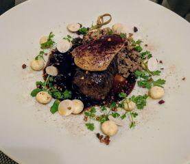 Hind w/ foie gras