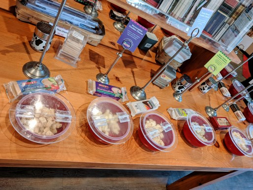 Samples at the Cabot store