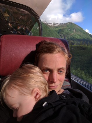 Train from Ancorage to Seward, Alaska