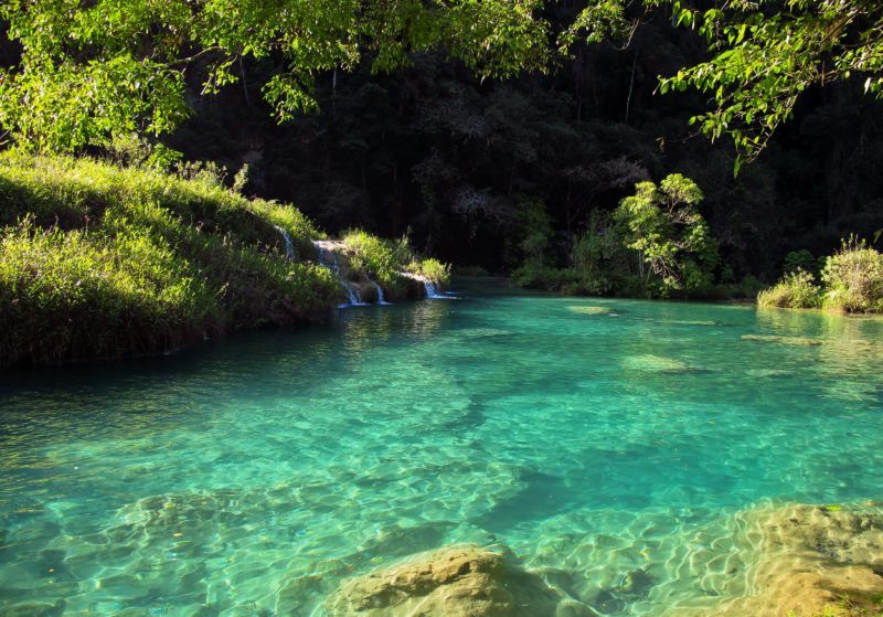 The gorgeous pools of Semuc Champey - photo courtesy of Matthias Hiltner (flickr)