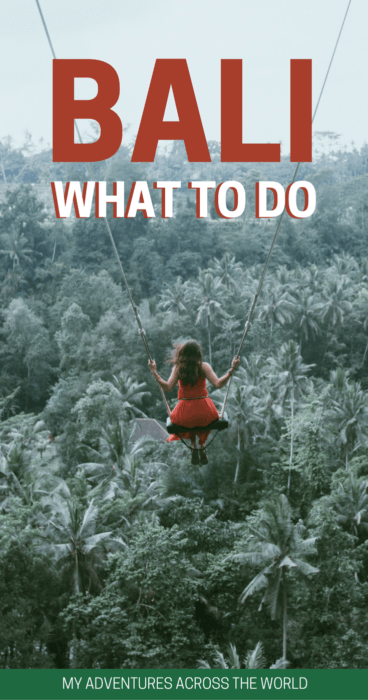 Find out the things to do in Bali in one week - via @clautavani