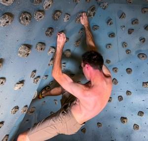 rock climbing exercise