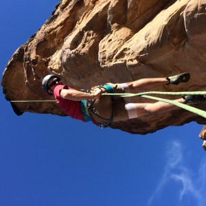 rappelling double stranded