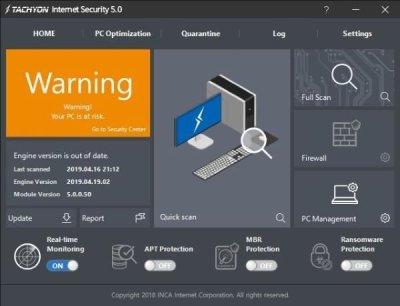 TACHYON Internet Security software