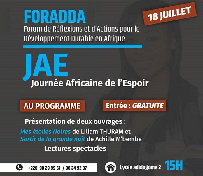 Lomé accueille la première édition du FORADDA