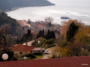 Looking down on the village of Anadolu Kavagi