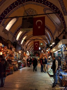 """One of the many """"streets"""" within the Grand Bazaar. Be sure to look up and take in the amazing architecture."""