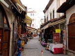 A Safranbolu Street with vendors.
