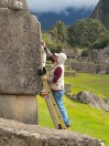 Preservation work at Machu Picchu; they were cleaning the stones.
