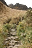 A portion of original, restored Inca Trail