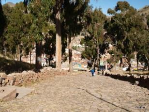 Looking down the start of the Cerro Calvario path
