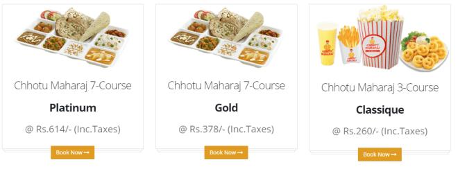 Chhotu Maharaj Ahmedabad - Menu