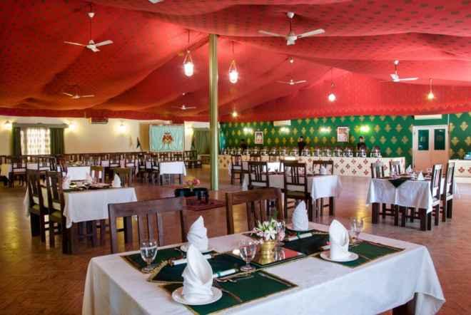 Dinner area garden palace Balasinor