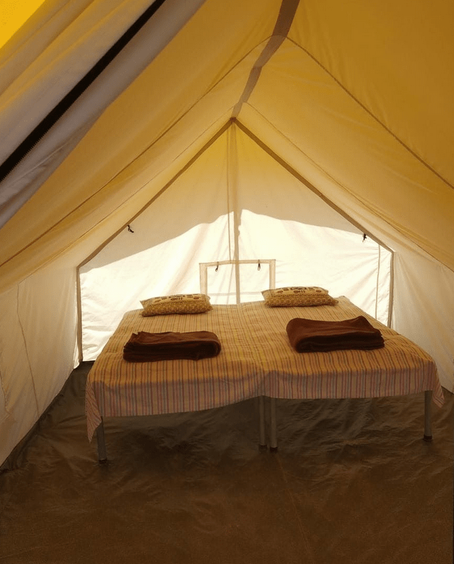 Polo tent inside view