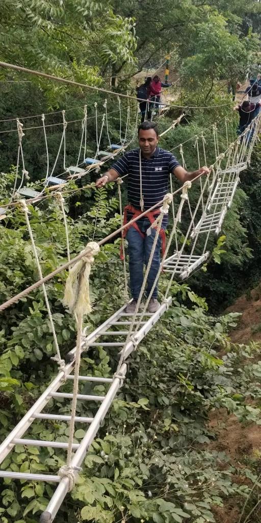 Adventure activities at riparian resort