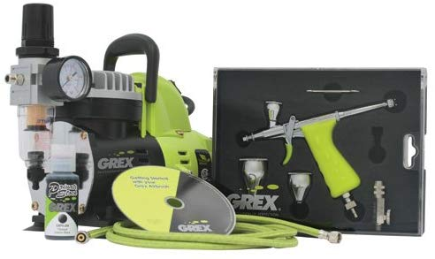 Grex GCK03 Airbrush Combo Kit with Tritium.TG3 Airbrush, AC1810-A