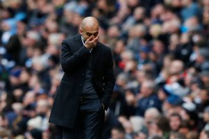 Pep Guardiola during a match against Chelsea this month. Credit Phil Noble/Reuters