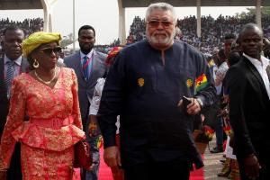 Former President J.J. Rawlings and his wife Nana Konadu Agyemang-Rawlings
