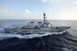 The United States guided missile destroyer Mahan in the Mediterranean in 2013. Credit Mass Communication Specialist 2nd Class Jacob D. Moore/U.S. Navy, via Reuters