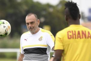 Avram Grant (left) may have only two games left as Ghana coach