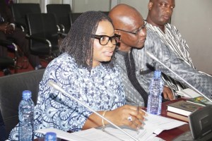 Charlotte Osei and Amadu Sulley at PAC sitting