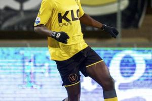 Edwin Gyasi pictured playing for former club Roda JC before his switch to Aalesunds FK in Norway