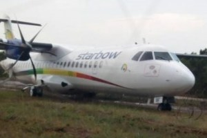 Starbow plane crashes into fence wall at Kotoka Airport