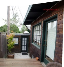 Deck, leads into your entrance door on left side. Notice large wonderful window. Both rooms have this window.