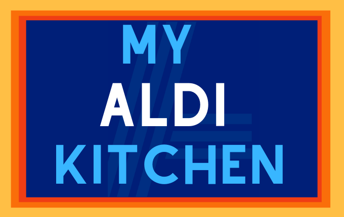 Logo for food blog featuring Aldi food market.