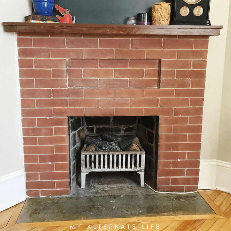 Terrific How To Strip Paint From Brick Fireplace My Alternate Life Interior Design Ideas Inesswwsoteloinfo