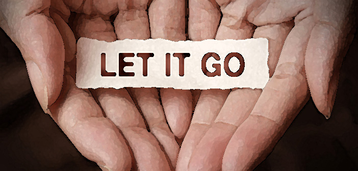 43781263 - let it go text on hand design concept