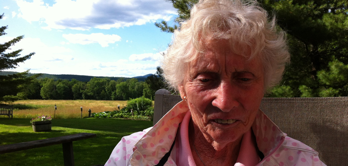 Mary Patricia (Patty) Eustace Macaulay; September 27, 1928 - August 17, 2016. Pictured here in summer 2011.