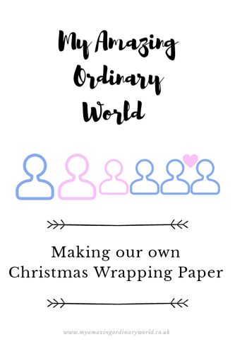 Post title: Making our own Christmas wrapping paper.