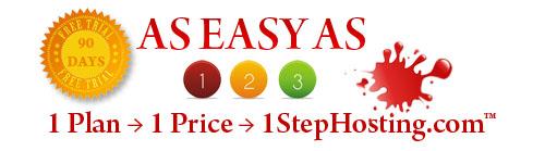 1 Price • 1 Plan • 1 Step Hosting