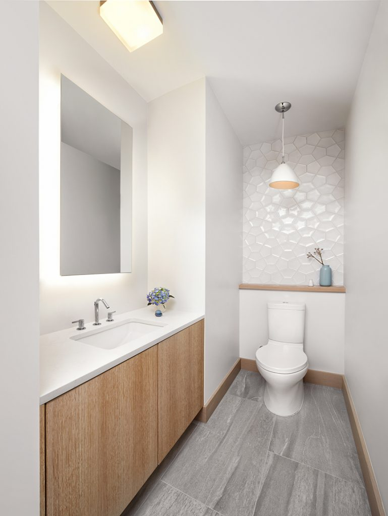 16 Half Bathrooms That Are Both Stylish And Functional ... on Modern:kkgewzoz5M4= Small Bathroom  id=52455