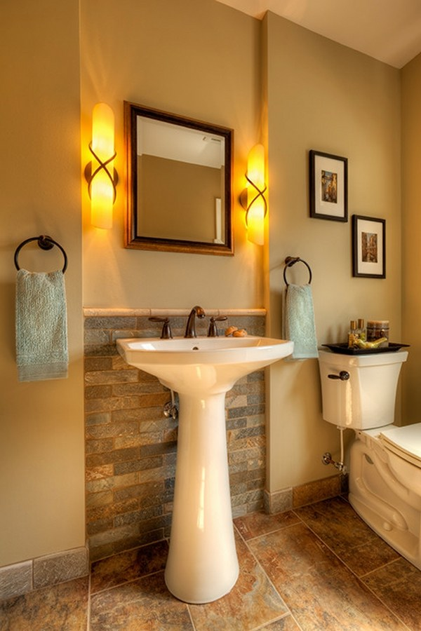 16 Half Bathrooms That Are Both Stylish And Functional ... on Remodel:ll6Wzx8Nqba= Small Kitchen Ideas  id=81626