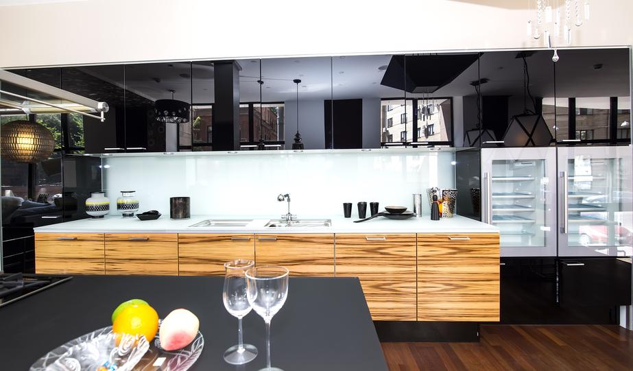 Ultra Modern And Sleek Black And Wood Kitchens
