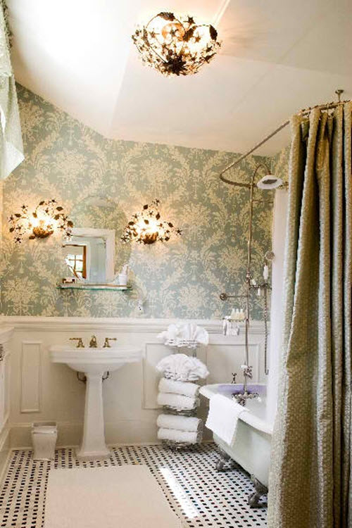 Tips to Make Your Bathroom Look Larger With Shower Curtains on Remodel:ll6Wzx8Nqba= Small Kitchen Ideas  id=55283